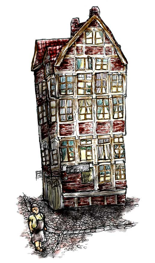 Illustration und Design Hamburg/Illustration/Scribble/Alte Speicherstadt/amvspreckelsen