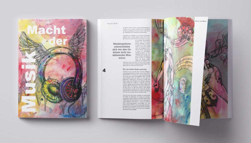 Illustration und Design Hamburg/Design/Editorial/Macht der Musik/amvspreckelsen