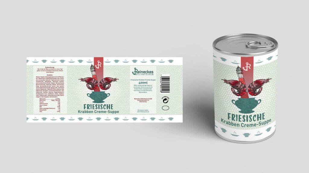 Illustration und Design Hamburg/Design/Packaging/Reineckes Delikatess Konserve/amvspreckelsen