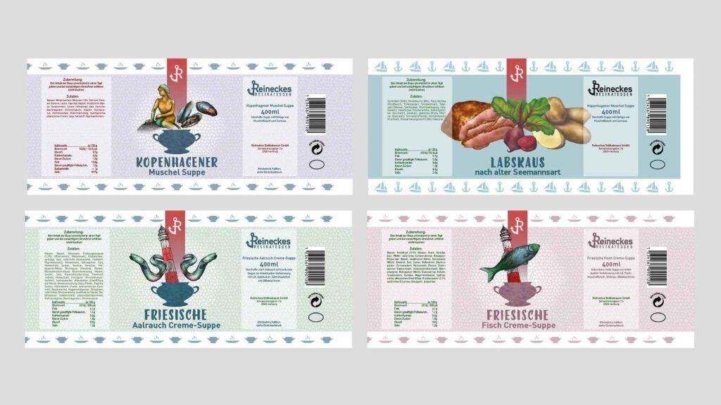 Illustration und Design Hamburg/Design/Packaging/Reineckes Delikatess Konserven/amvspreckelsen