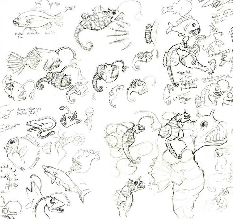 Illustration und Design Hamburg/Scribble/Illustration/Creature Design deep sea/amvspreckelsen